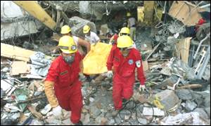 Earthquake rescue teams