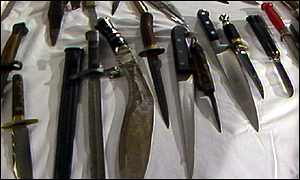 A collection of knives