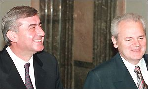 Pavle Bulatovic (left) with President Slobodan Milosevic