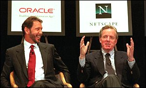 Larry Ellison and James Barksdale