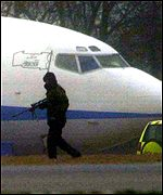 Police with plane