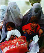 Afghan women with child