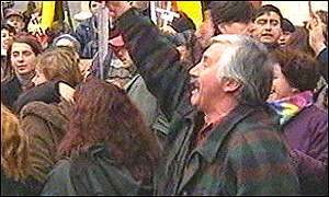 Anti-Pinochet protesters