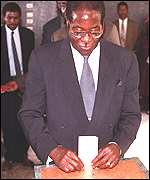 Mugabe votes
