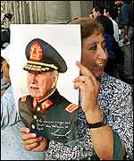 Pinochet supporter in Chile