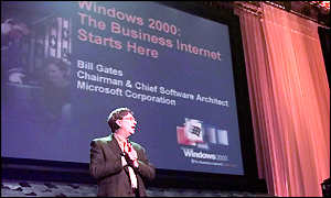 Bill Gates at Windows 2000 product launch