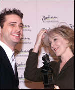 Jason Priestley with Patricia Hodge