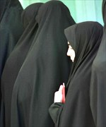 Women queue to vote in the holy city of Qom