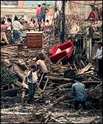 Hurricane Mitch devastation in 1998