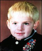 [ image: Johnathan Ball was three years old when he was killed]