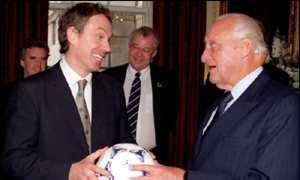 image: [ Tony Blair and Joao Havelange discussed the England bid at 10 Downing Street ]
