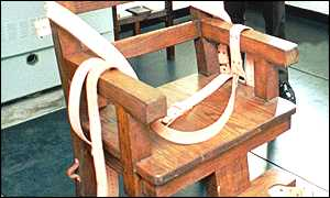 image: [ Florida suspended capital punishment in March 1997 after 'Old Sparky' caught fire ]