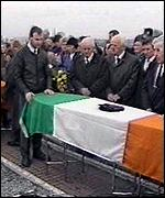 [ image: Mourners gather at the funeral of the IRA members shot by the SAS]