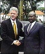 [ image: Clinton's visit seen as boost for  President Museveni]