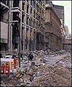 [ image: A bomb blasts rips out the heart of Bishopgate in London's financial district]