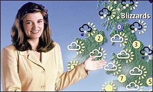 Weather forecaster Helen Young