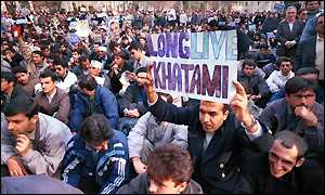 pro Khatami supporters