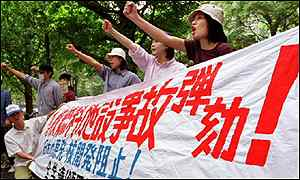 Japanese anti-nuclear demonstrators