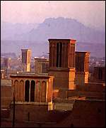 Wind towers in Yazd