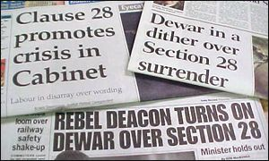 Section 28 headlines