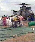 Helicopter airlift