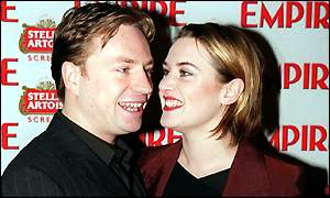 Kate Winslet with her husband Jim Threapleton