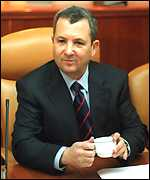 Barak at cabinet meeting
