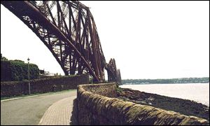 Forth Bridge and wall
