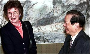 Mary Robinson and Qian Qichen