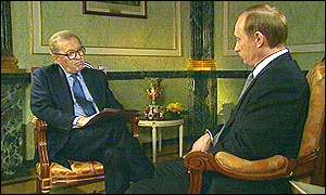 Vladimir Putin's first interview with a foreign journalist
