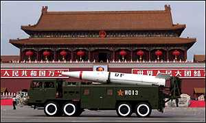 Chinese missile in Tiananmen Square