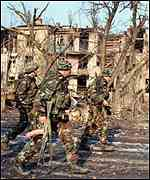 Soldiers in Grozny