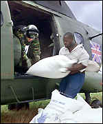 Mozambique flood relief