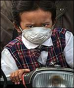 Masked Indonesian child