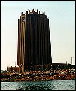 Bamako bank on the bank