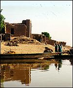 Canoe on the Niger