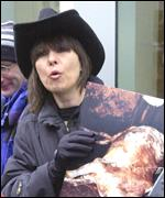 Chrissie Hynde protests in Toronto
