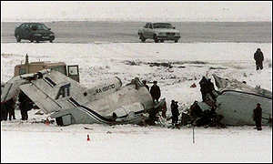 Crashed Yak-40