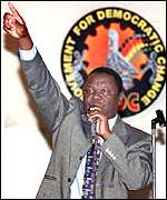 Opposition leader Morgan Tsvangirai