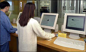 Koreans using computers