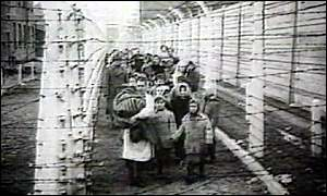 Jews in Nazi camp