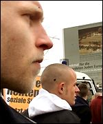 Skinheads at rally