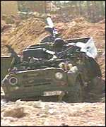 wreckage on the border