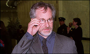 Steven Spielberg lectured to media students at Liverpool's John Moores University