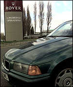 BMW car outside Rover factory