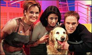 Katy Hill with co-hosts Konnie Huq, Simon Thomas