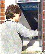 Cash machine user