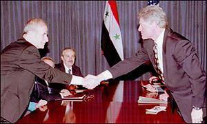 Bill Clinton and Hafez al-Assad