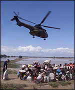 Helicopter rescue, Mozambique