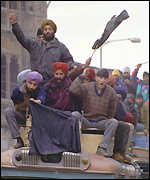 Sikhs on bus